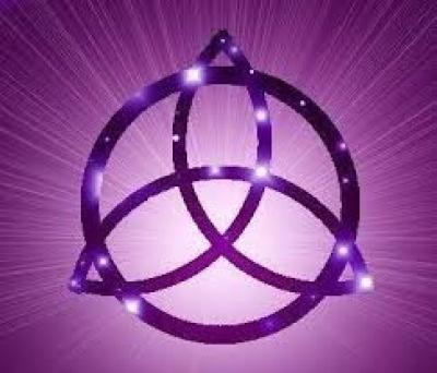 triquetra purple celtic knots