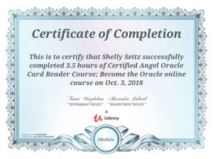 Angel Oracle card certification
