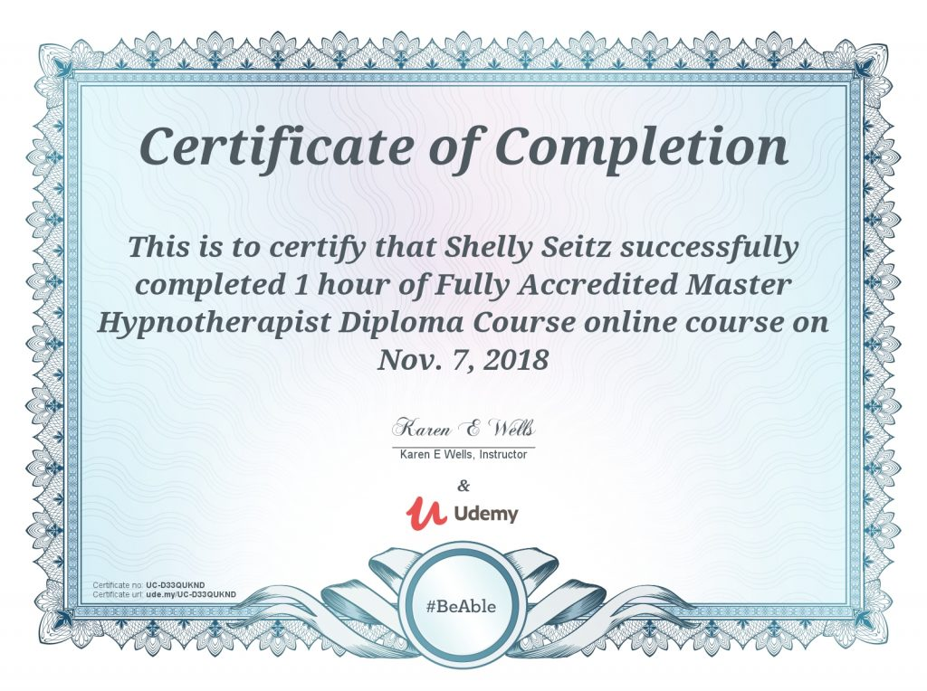 master hypnotherapist certification