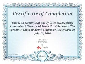 tarot card success