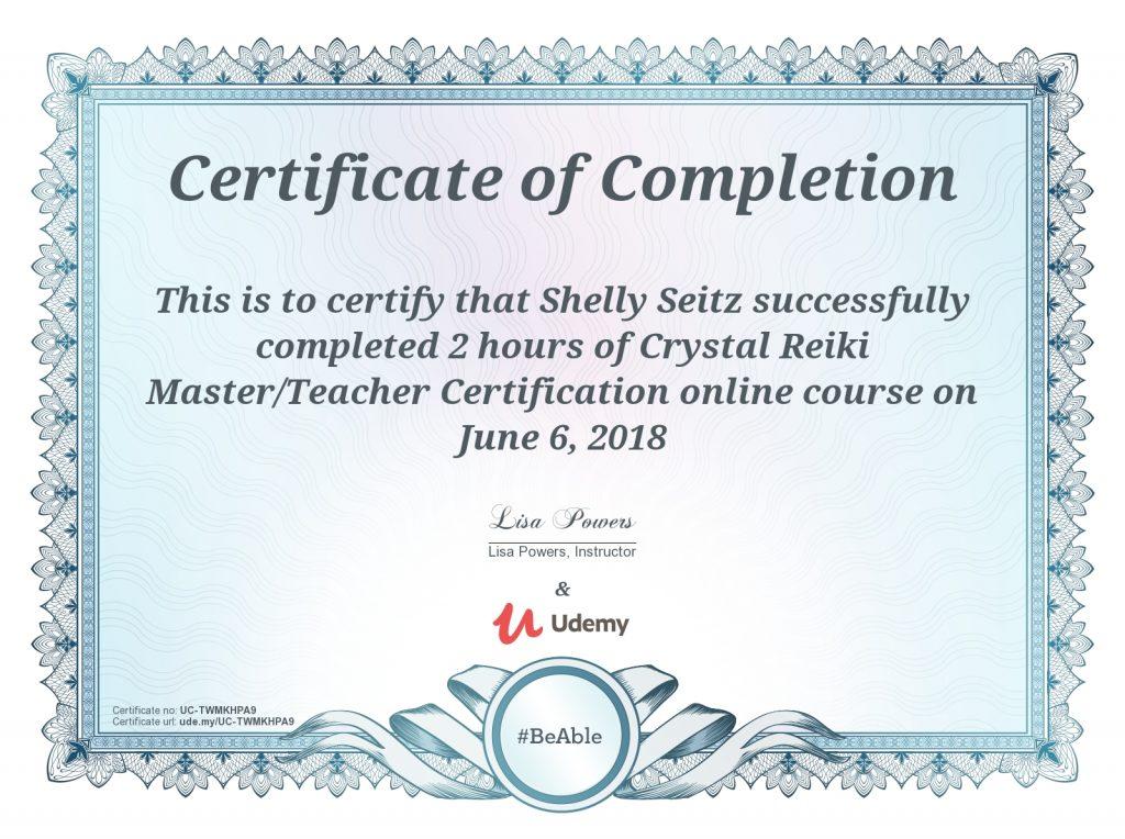 crystal reiki master / teacher