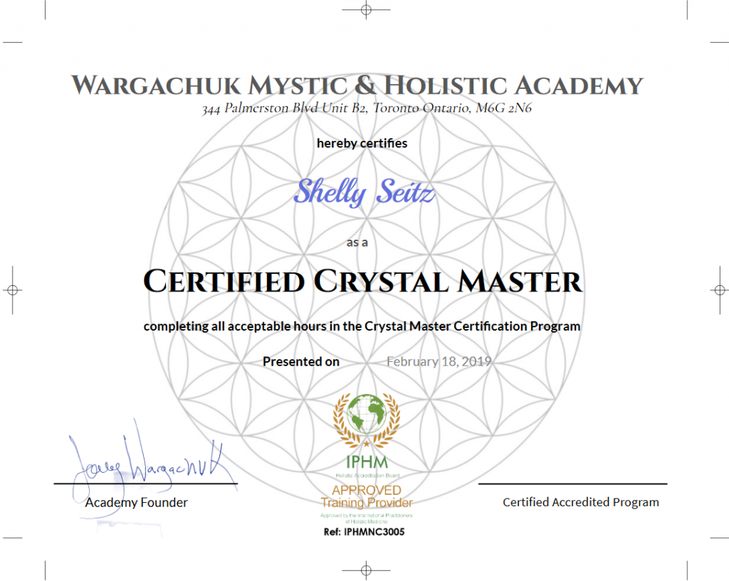 Certified Crystal Master