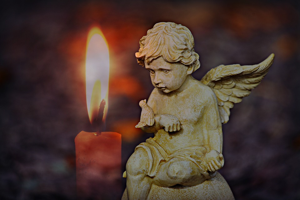 Angel Cherub Candle